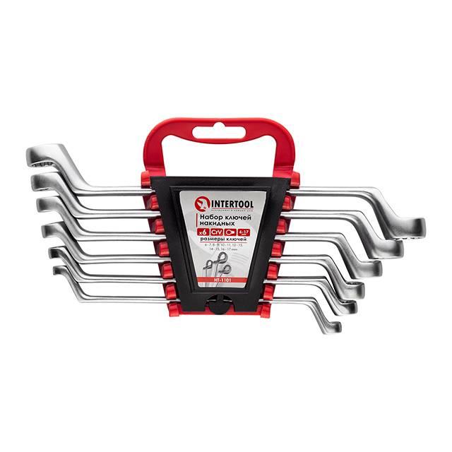 Набор накидных ключей 6 шт., 6-17 мм Cr-V INTERTOOL HT-1101