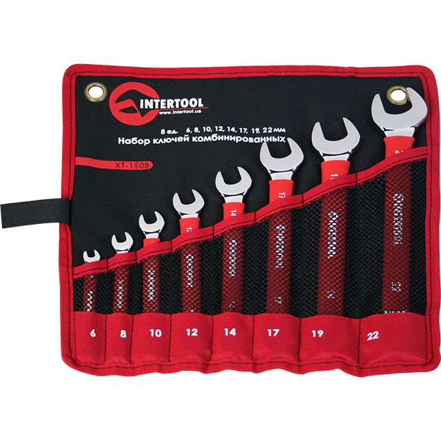 Набор комбинированных ключей 8 шт. INTERTOOL XT-1508