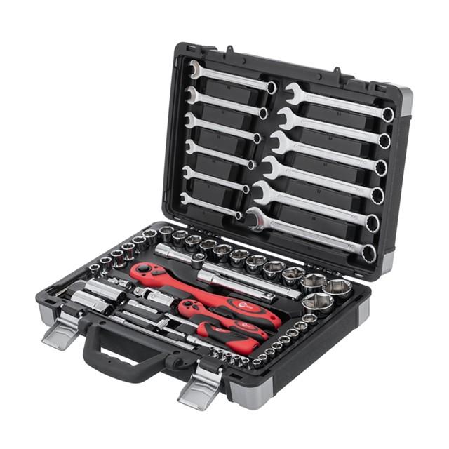 Профессиональный набор инструментов 1/4' & 1/2' 61 ед INTERTOOL ET-6061