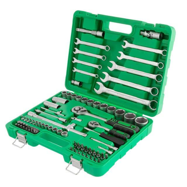 Набор инструментов 1/2' & 1/4'; 82ед, Cr-V INTERTOOL ET-6082SP