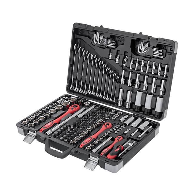 Профессиональный набор инструментов, 1/4' & 3/8' & 1/2', 176 ед. INTERTOOL ET-7176