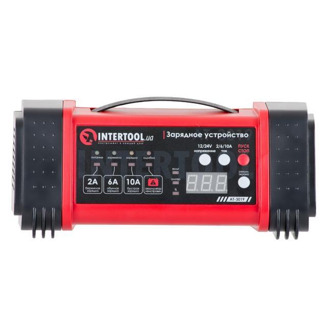 Зарядное устройство 12/24В, 2/6/10А, 2/6A, 230В, дисплей INTERTOOL AT-
