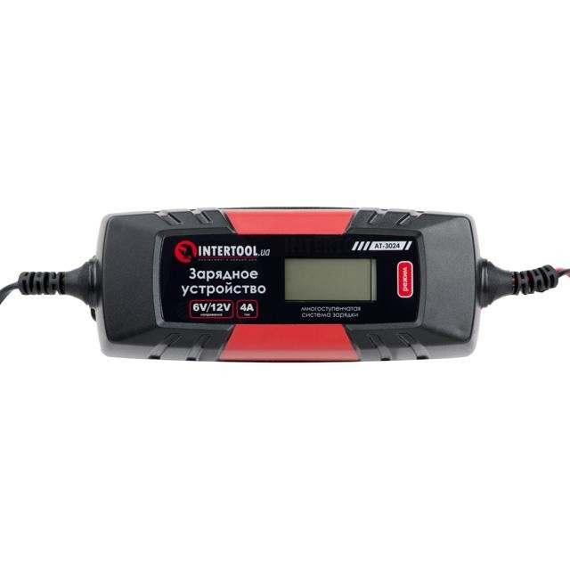 Зарядное устройство 6/12В, 1/2/3/4А, 230В, зимний режим зарядки, диспл