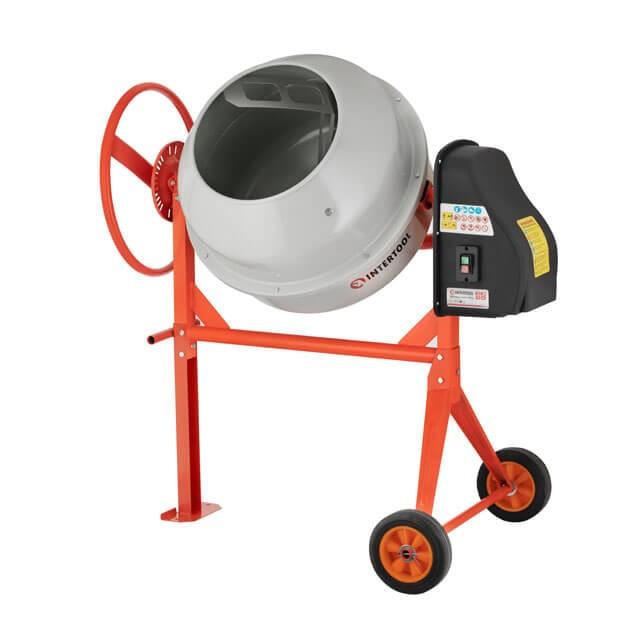 Бетоносмеситель 375 Вт, 140 л, 30 об/мин INTERTOOL DT-9140