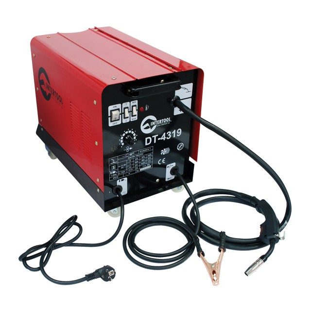 Сварочный полуавтомат 230 В, 7,5 кВт, 40-180 А, диаметр проволоки 0,6-