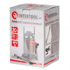 Домкрат столбик одноштоковый 20т INTERTOOL GT0028: фото 4