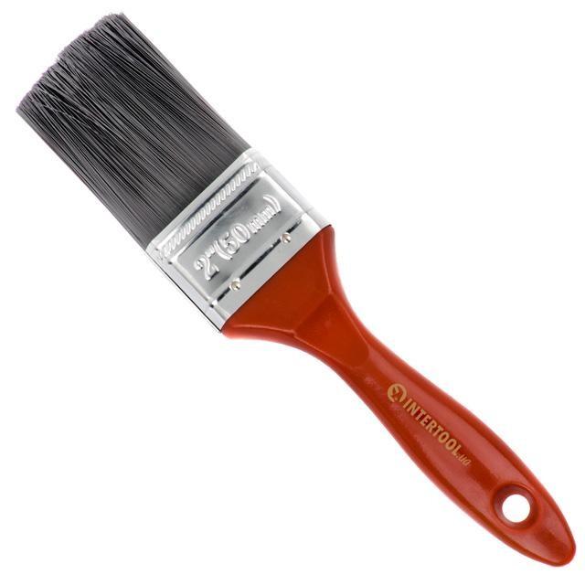 Кисть флейцевая 50*16*64 мм, пластиковая ручка INTERTOOL KT-1450