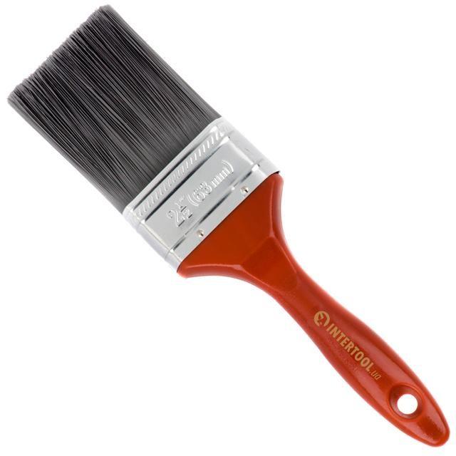 Кисть флейцевая 63*17*70 мм, пластиковая ручка INTERTOOL KT-1463