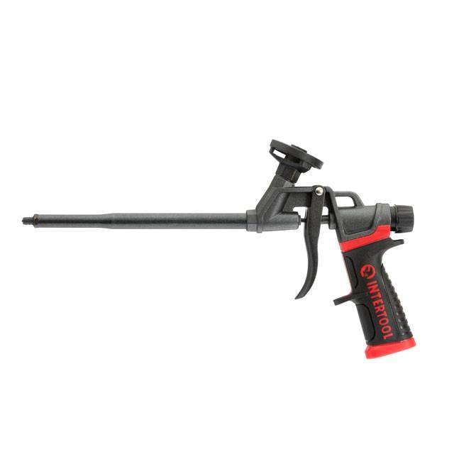 Пистолет для монтажной пены с полным тефлоновым покрытием профессиональный + 4 насадки [] INTERTOOL PT-0610