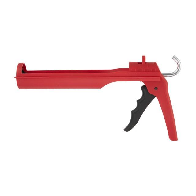 Пистолет для выдавливания силикона ПРОФ 1300 Н, усиленный пластик. INTERTOOL HT-0027