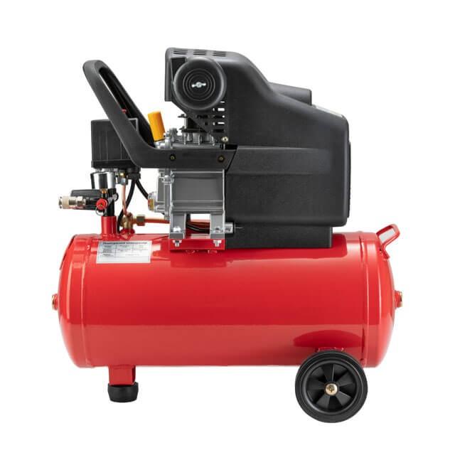 Компрессор 24 л, 2 HP, 1,5 кВт, 220 В, 8 атм, 206 л/мин. INTERTOOL PT-0009