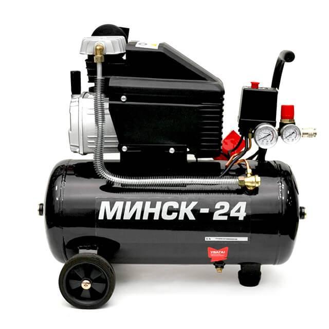 Компрессор 24 л, 1,5 HP, 1,1 кВт, 220 В, 8 атм, 190 л/мин INTERTOOL PT-0020
