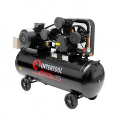 Компрессор 200 л, 10 HP, 7,5 кВт, 380 В, 8 атм, 1050 л/мин. 3 цилиндра INTERTOOL PT-0040