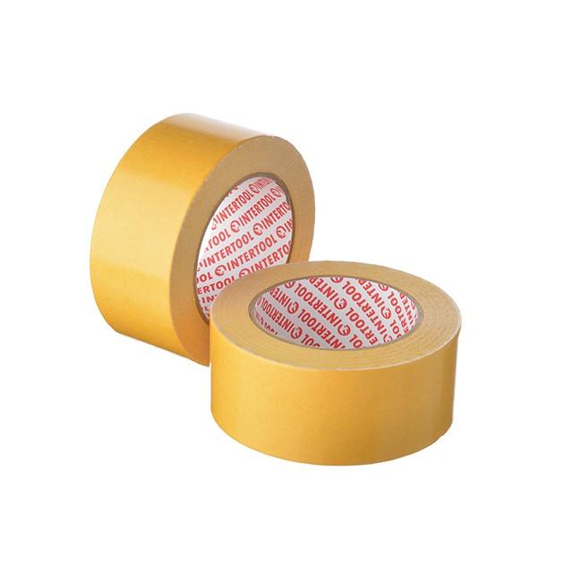 Скотч двухсторонний 50 мм*25 м на тканевой основе INTERTOOL KT-0963