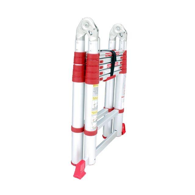 Лестница алюминиевая телескопическая раскладная универсальная 12 ступ., 3,85 м INTERTOOL LT-3039