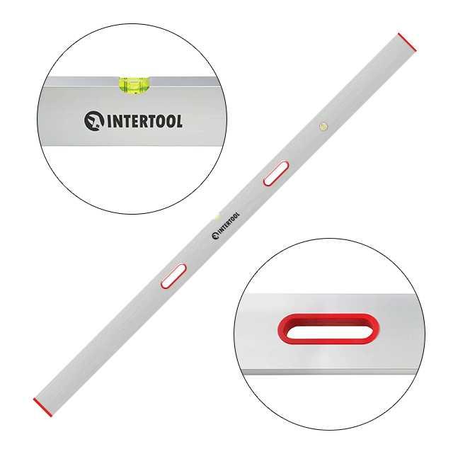 Правило-уровень 200 см, 2 капсулы, вертикальный и горизонтальный с ручками INTERTOOL MT-2120