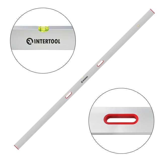 Правило-уровень 300 см, 2 капсулы, вертикальный и горизонтальный с ручками INTERTOOL MT-2130