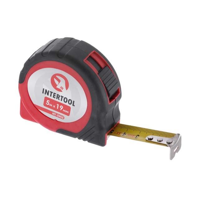 Рулетка с металлическим полотном 5 м x 19 мм, автостоп полотна INTERTOOL MT-0405