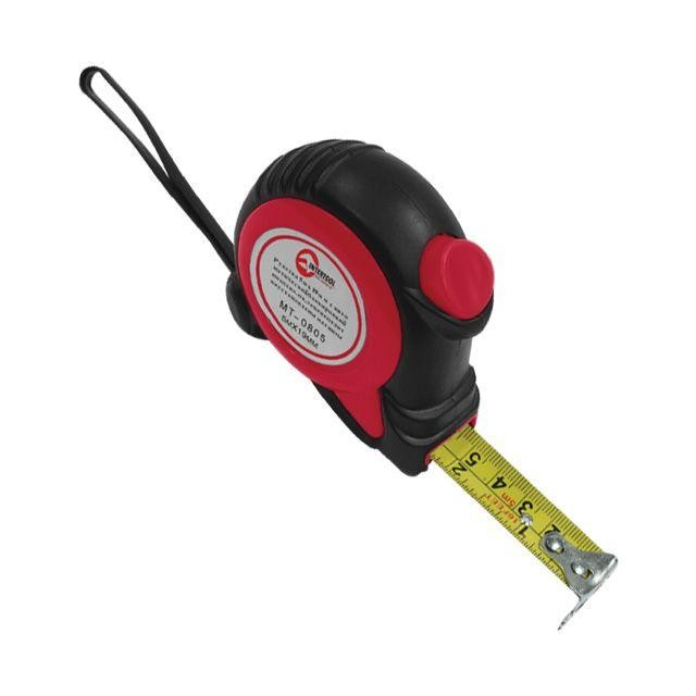 Рулетка 7.5м*25мм с автоматической блокировкой полотна, на зацепе полотна установлены магниты INTERTOOL MT-0808.00
