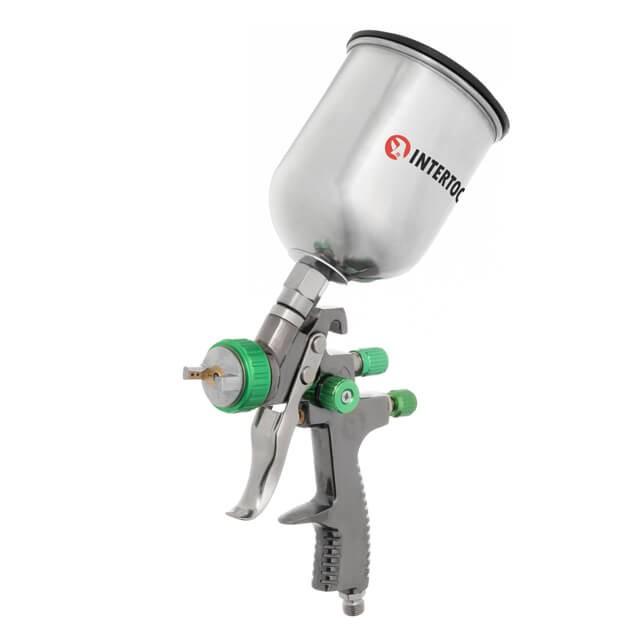 LVLP GREEN NEW Профессиональный краскораспылитель 1,3 мм, верхний мета