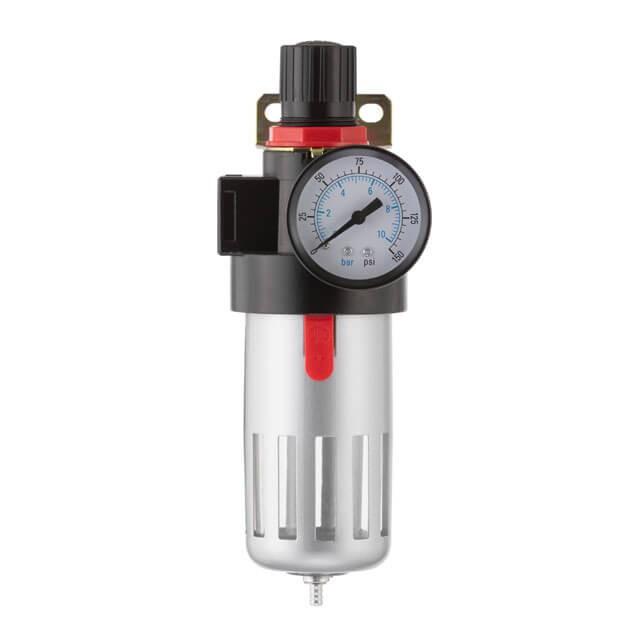 Фильтр очистки воздуха + редуктор в металле 1/2' INTERTOOL PT-1410