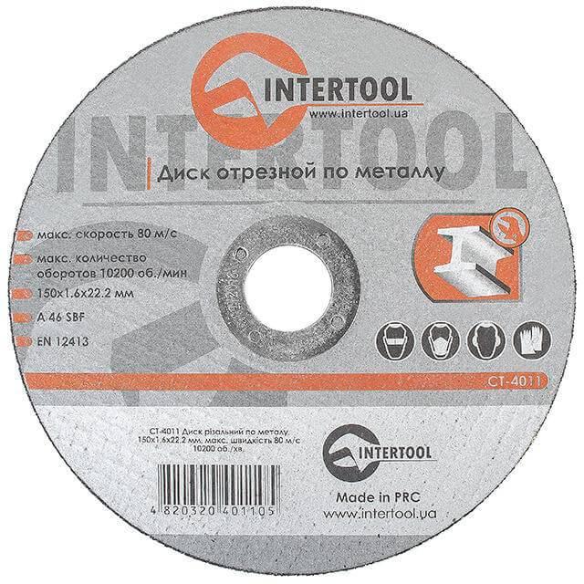 Круг отрезной по металлу INTERTOOL CT-4011 – купить по цене ...