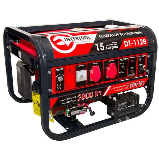Генератор бензиновый макс мощн 3,1 кВт., ном. 2,8 кВт., 6,5 л.с., 4-х