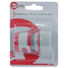 "Коннектор 1/2"" для шланга 3/4"" INTERTOOL GE-1117: фото 3"