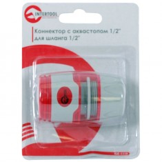 "Конектор с аквастопом 1/2"" для шланга 1/2"" INTERTOOL GE-1119: фото 3"