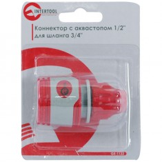 "Конектор 1/2"" для шланга 3/8"" INTERTOOL GE-1122: фото 3"