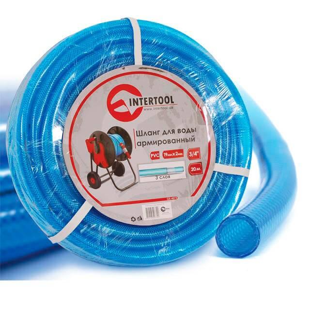 Шланг для воды 3-х слойный 3/4', 20 м, армированный PVC INTERTOOL GE-4073