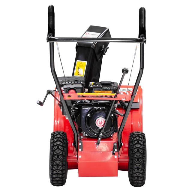 Снегоуборщик бензиновый, с приводом на колеса, 5 скоростей + 2 задние, 4-х тактный двигатель 5,5 HP / 4,1 кВт, рабочая ширина 560 мм INTERTOOL SN-5500