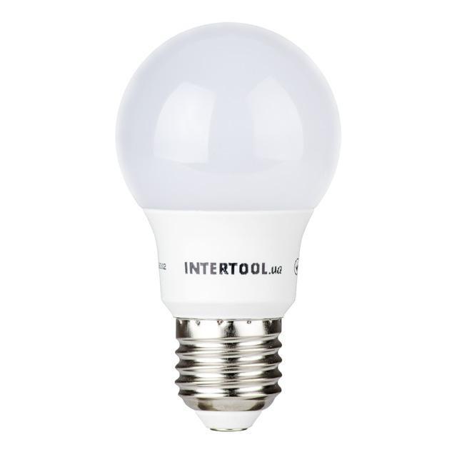 Светодиодная лампа LED A55, E27, 7Вт, 150-300В, 4000K, 30000ч, гарантия 3года. INTERTOOL LL-0003