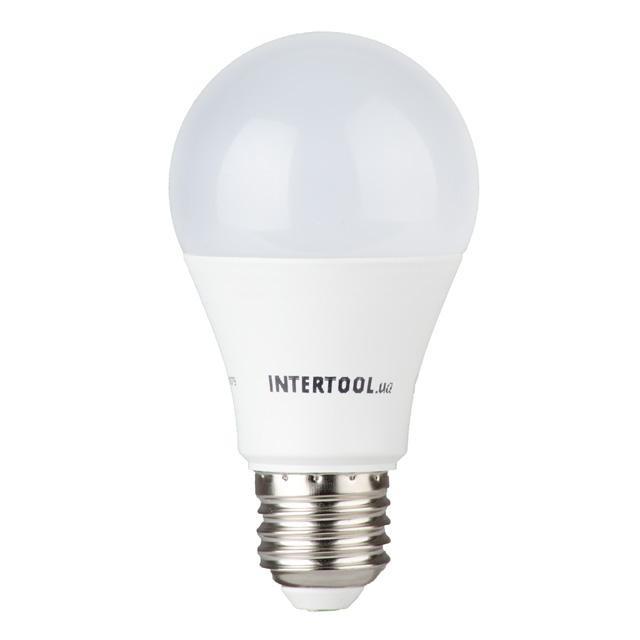 Светодиодная лампа LED A60, E27, 12Вт, 150-300В, 4000K, 30000ч, гарантия 3года. INTERTOOL LL-0015