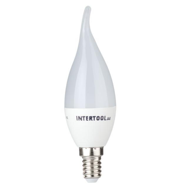 Светодиодная лампа LED C37, E14, 3Вт, 150-300В, 4000K, 30000ч, гарантия 3года. (Свеча на ветру) INTERTOOL LL-0161