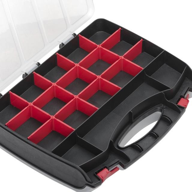 Органайзер пластиковый, 15', 2 в 1, 380x290x80 мм INTERTOOL BX-4005