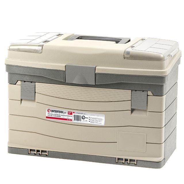 Многофункциональный органайзер пластиковый для метизов, 17', 435x235x300 мм INTERTOOL BX-4017