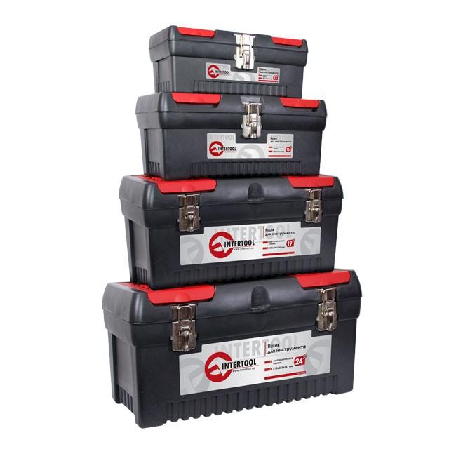 Комплект ящиков для инструментов с металлическим замком, 4 шт INTERTOOL BX-0004