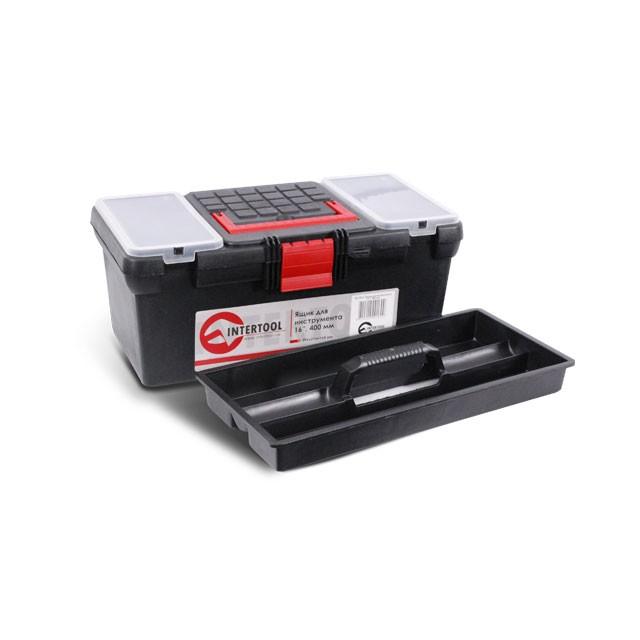 Ящик для инструментов, 16' 396x216x164 мм INTERTOOL BX-0016