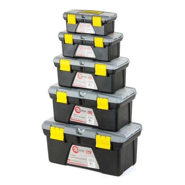Комплект ящиков для инструмента 5шт (ВХ-0310 10'/ВХ-0312 12'/ВХ-0314 14'/BX-0316 16.5'/BX-0318 18.5') INTERTOOL BX-0305
