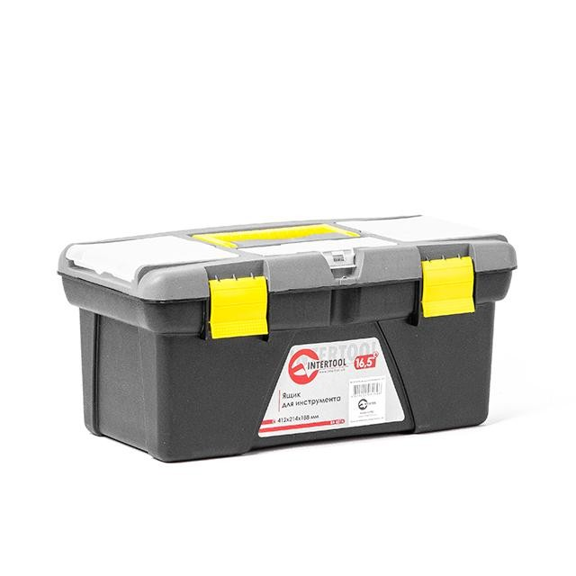 Ящик для инструмента 16.5' 412*214*188мм INTERTOOL BX-0316