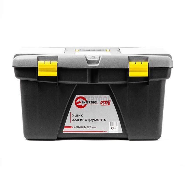 Ящик для инструмента 26.5' 670*393*370мм INTERTOOL BX-0326