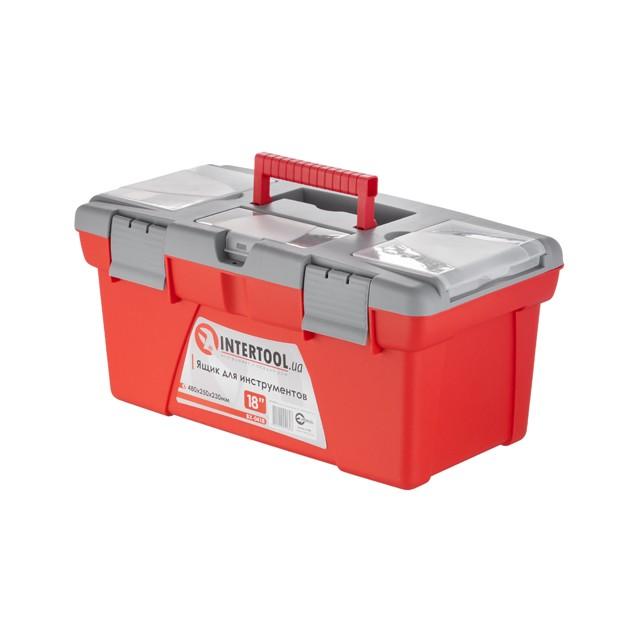 Ящик для инструментов, 18' 480x250x230 мм INTERTOOL BX-0418