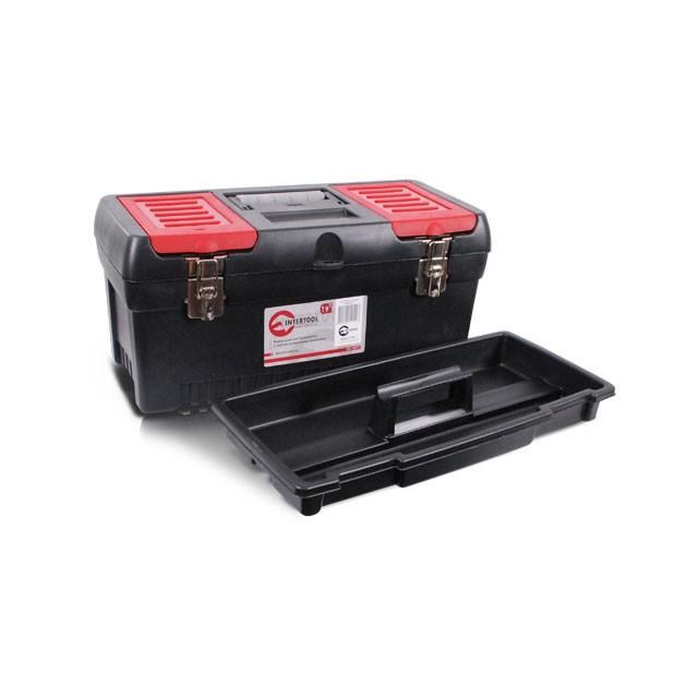 Ящик для инструментов с металлическими замками, 19' 483x242x240 мм INTERTOOL BX-1019