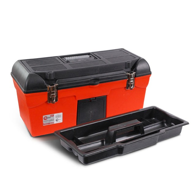 Ящик для инструмента с металлическими замками 24' 610x255x251 мм INTERTOOL BX-1123