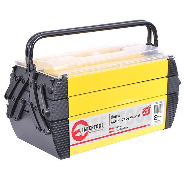Ящик для инструмента 20', 5 секций, 515x210x230 мм INTERTOOL BX-5020