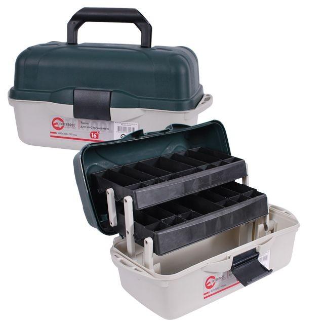 Ящик для инструментов, 16' 400x205x190 мм INTERTOOL BX-6116