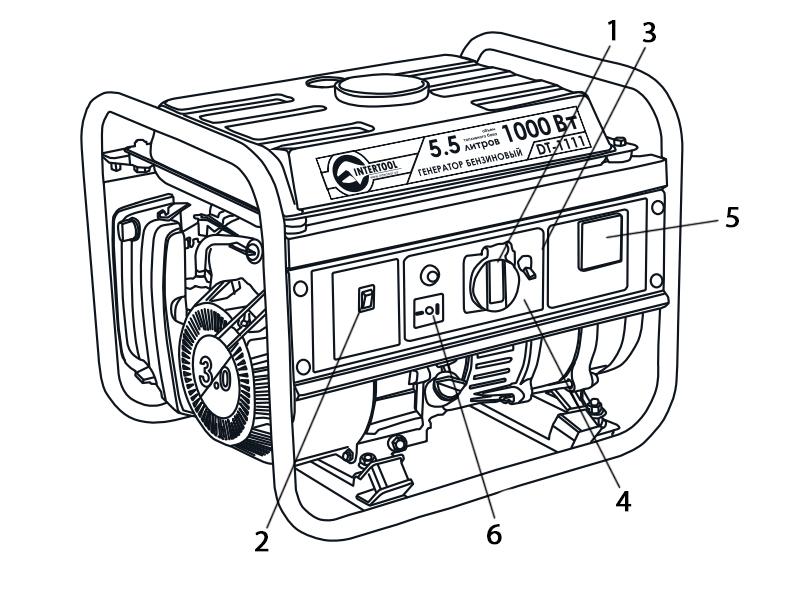Схема и описание бензинового генератора с мощностью 1,2 кВт