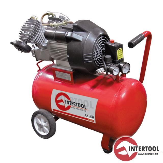 Компрессор - PT-0007 (50 л, 3 кВт, 220 В, 8 атм)