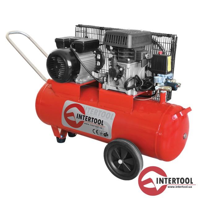 Компрессор - PT-0011 (50 л, 1.8 кВт, 220 В, 8 атм, 233 л/мин)